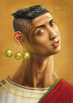 Caricatura de Cristiano Ronaldo por Krzysztof Grzondziel (Polónia)