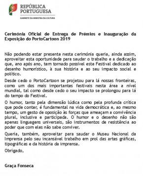 Mensagem da Senhora Ministra da Cultura - PortoCartoon.docx