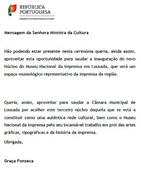 MensagemMinistraCultura